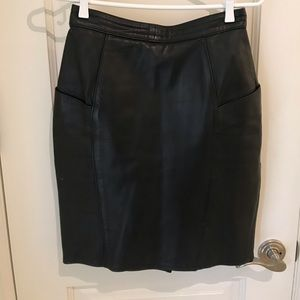 Dresses & Skirts - 100% Leather Vintage Skirt!! Size small!